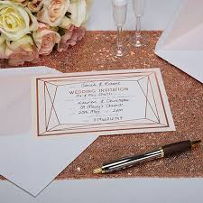 Blush Wedding Invitations Geo Blush Wedding Invitations 10 Pack Confetti Co Uk
