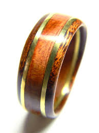 wedding ring alternatives for men unique men s wood ring cedar and brass wedding band engagement