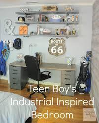 teen boys bedroom final reveal organizing made fun teen boys teen boy s room industrial shelving organizingmadefun com