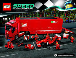 speed chions ferrari f14 t and scuderia ferrari truck instructions 75913 speed