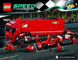 ferrari speed chions f14 t and scuderia ferrari truck instructions 75913 speed