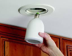 audio light bulb speakers ipod and lightbulb