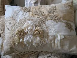 gorgeous pillow ribbons u0026 lace cushion vignettes antiques