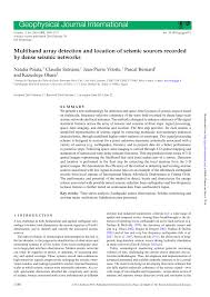 PDF Multiband array detection and location of seismic sources