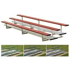 Portable Sports Bench Portable Aluminum Bleacher 3 Row 42 Seat Bsn Sports