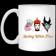 resting witch face mug funny mug for halloween rockatee