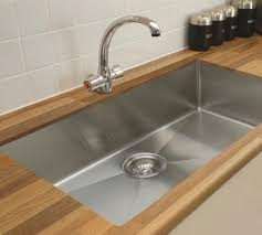 kitchen room simple stainless steel kitchen sink idea with black