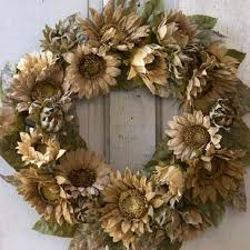 burlap sunflower wreath burlap sunflower wreath faux sunflower wreath summer door