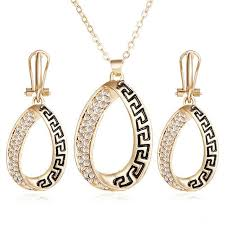 earring necklace sets wedding images 17km vintage african crystal jewelry sets for women fashion punk jpg
