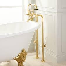 Floor Mounted Faucet Floor Mount Freestanding Tub Fillers Signature Hardware