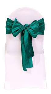 teal chair sashes crinkle taffeta chair sashes teal for weddings bridal tablecloths