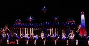 Red And White Christmas Lights He Put Red White And Blue Christmas Lights On The House Watch