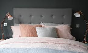 bedroom makeover grey copper pink flat 15 design