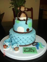 monkey baby shower cake monkey baby shower cake