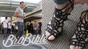 dude tries to wear high heels for an entire day youtube