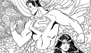exclusive dc comics coloring book covers for superman wonder