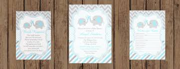elephant blue and gray baby shower collection
