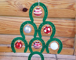 horseshoe christmas tree horseshoe christmas etsy