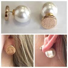 Personalized Initial Jewelry Monogram Pearl Peek A Boo Studs U2013 I Love Jewelry