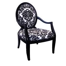 Accent Chairs Black And White Furniture Black Wooden Chair With Black And White Upholstered