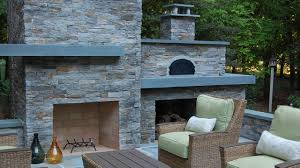 Pizza Oven Outdoor Fireplace by Outdoor Fireplace Pizza Oven Modern Landscape Raleigh By