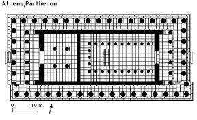 floor plan of the parthenon the parthenon