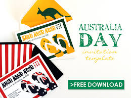 free invitations templates free australia day party invitation template