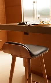 Leather Bar Chair Black Leather Bar Stool With Back Walnut Wood Article Sede