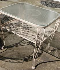 Oval Wrought Iron Patio Table by Lyon Shaw U0027s Windflower Lattice Wrought Iron Outdoor Patio Table