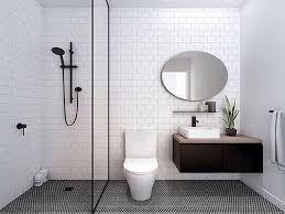 desain kamar mandi warna hitam putih perfeksi desain kamar mandi visualisasi desain modern minimalis