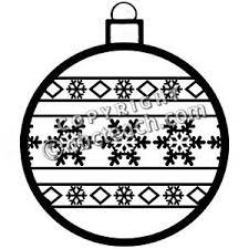 snowflake ornament clipart black and white clip
