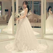 wedding dress korea new wedding dress dress korean simple tailed code