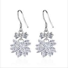 dangler earring girl earrings zircon bow fashion simple dangler