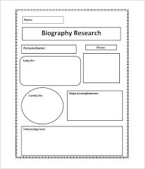 biography book report template pdf biography template biography research graphic organizer