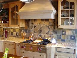 beautiful decorating ideas using cream tile backsplash and brown