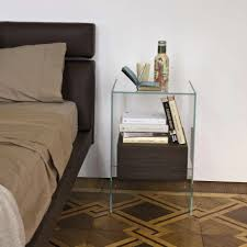 minimalist bedside table glass bedside table books quickinfoway interior ideas