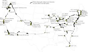 Eastern Half Of United States Map by Top Brewery Road Trip Routed Algorithmically Flowingdata