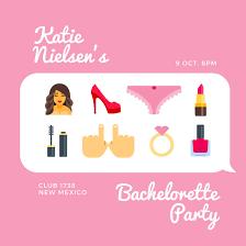 bachelorette party invitation templates canva
