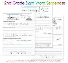 sentence worksheets for 2nd grade worksheets