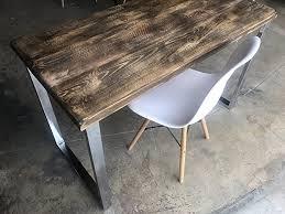 Reclaimed Wood Desk Amazon Com Umbuzö Solid Reclaimed Wood U0026 Chrome Leg Desk Handmade