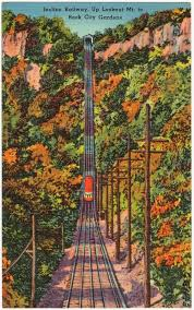Rock City Gardens Tennessee Incline Railway Up Lookout Mt To Rock City Gardens Digital