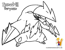 pokemon coloring pages for kids funycoloring