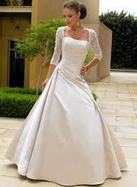 bridal dresses with sleeves brautkleider mit jacke oder mit ärmel satin wedding dresses
