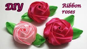 satin ribbon diy ribbon roses how to make satin ribbon roses kanzashi roses