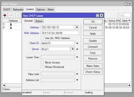 cara membuat vpn ip di mikrotik assign fixed static ip address via mikrotik dhcp server techonia