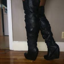 s qupid boots 36 qupid boots thigh high wedge boot from brey s closet on