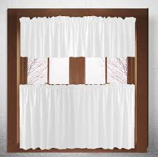 Cafe Tier Curtains Solid White Or Ivory Kitchen Cafe Tier Curtains