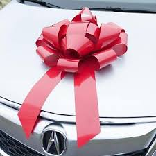 big present bow large gift bow big ribbon magnetic wrap car appliance present
