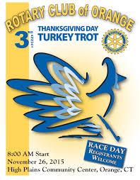 thanksgiving day races 11 26 2015 u2013 orange rotary club turkey trot u2013 orange ct fast
