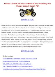 honda cbr 600 f4i service manual pdf workshop by celinda fitten